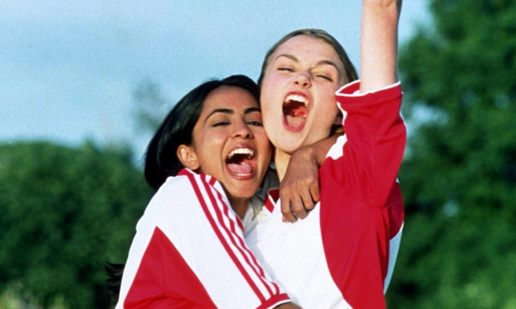Parminder Nagra and Keira Knightley in Bend It Like Beckham. Photograph: Allstar/BSKYB/Sportsphoto