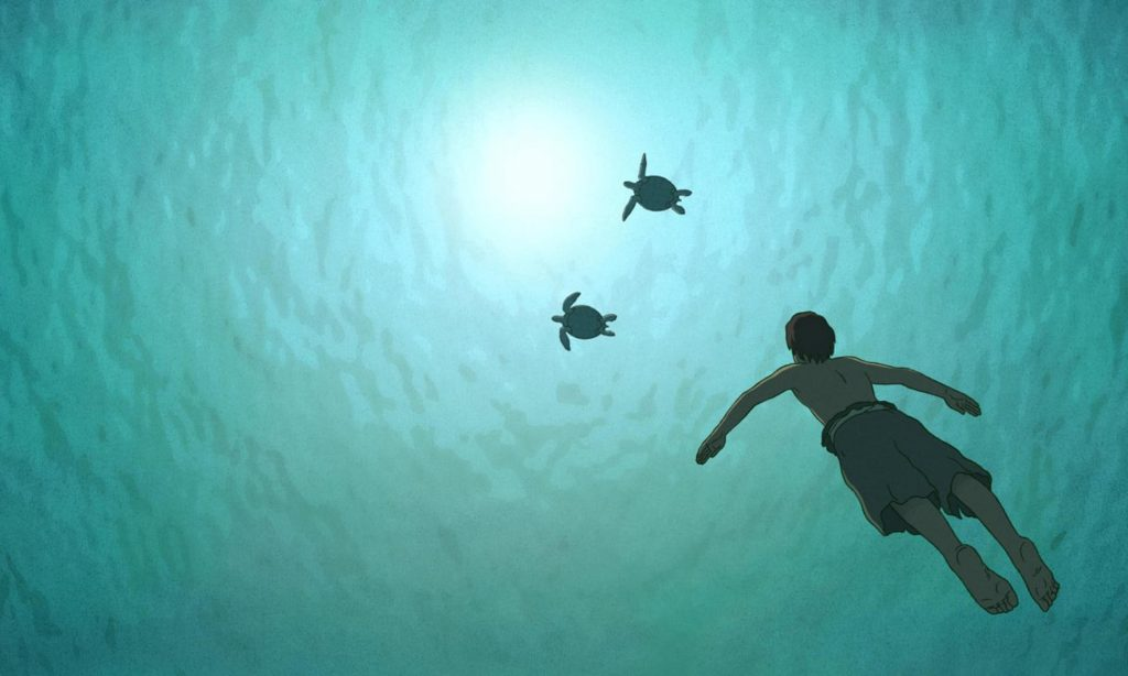 A still from the 2016 French-Japanese animated film The Red Turtle. Photograph: Alamy