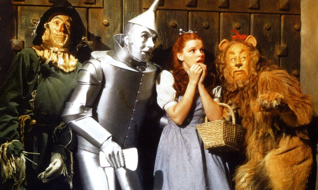 Judy Garland and company in The Wizard of Oz. Photograph: Alamy